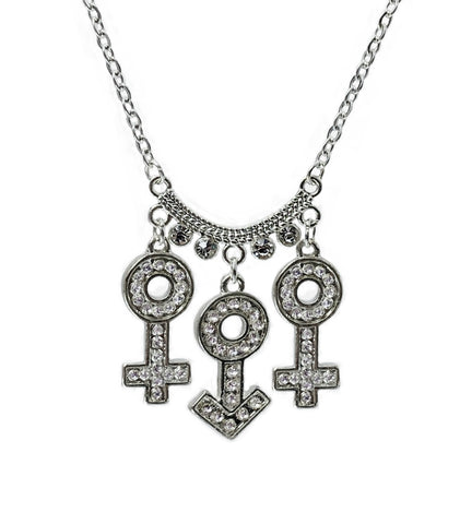 FMF All Silver Symbols Necklace
