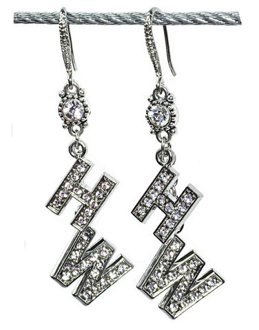 Hotwife Drop Earring Set -  Rhinestone