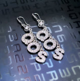 QOS Drop Earring Set - Rhinestone