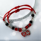 Red Hearts Adjustable Hotwife Anklet