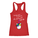 Funny Unicorn is Just A Dickhead Horse Tank Top & T-Shirt