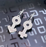 Male & Female Symbols Earring Set - Rhinestone
