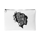 She Believed She Could So She Did 1 Accessory Pouch (White) - 2 Sizes