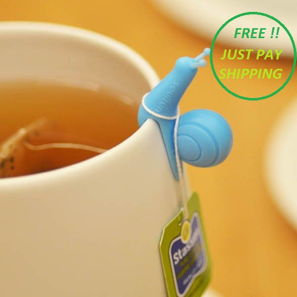 Cute Snail Silicone Tea Bag Holder