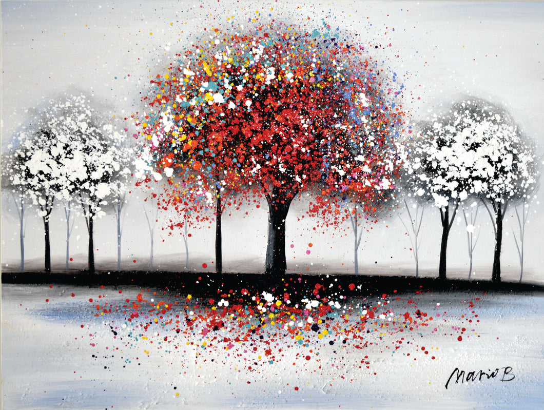 OLIVIA'S LOFT | Affordable_Art | Landscape_art | hand_painted_ wall_ art | colourful_art | trees_painting| interior_design_art | colourful_tree_painting