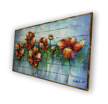 """Floral Poetry"" Floral Art on a Pallet Wood Board (Siberian Fir)"
