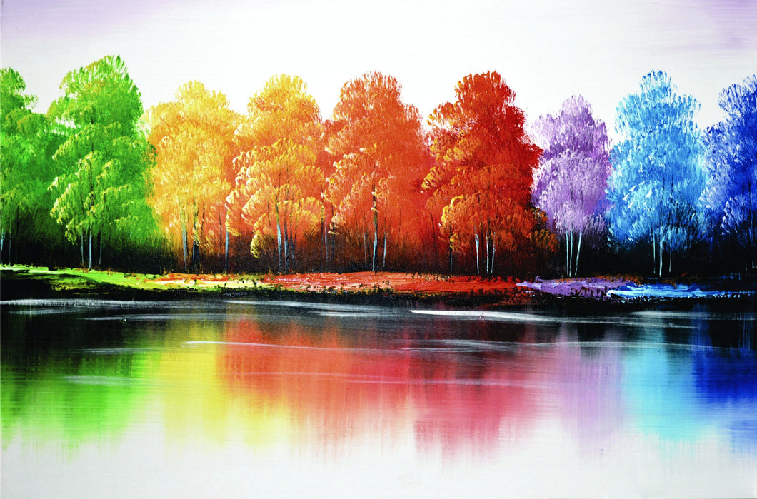 OLIVIA'S LOFT | Affordable_Art | Landscape_art | hand_painted_ wall_ art | colourful_art | trees_painting| interior_design_art