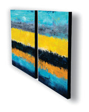 """Juxtaposed"" 2-Panel Acrylic on Canvas"