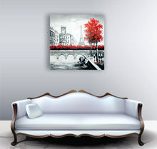 OLIVIA'S_LOFT | Affordable_Art | art_of_paris| city_art | red_tree | painting_of_paris | streets_of_paris | hand_painted_ wall_ art | colourful_art | modern_painting |  interior_design_art | city_art | paris_street_art