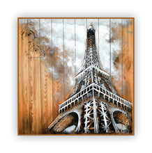 """Mon Paris"" 3-D Hand Crafted/Painted Pallet Wood Wall Art of the Eiffel Tower"