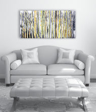 """Morning Light"" Trees in the Forest Painted in Acrylic on Canvas"