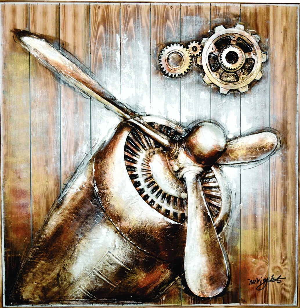 OLIVIA'S LOFT | Affordable_Art | mechanical_art | hand_painted_ wall_ art | steam_punk | propeller_wall art| interior_design_art | flying_wall_art | flying-enthusiast | airplane_wall_art | flying_school_art | metal_art | office_renovation | cool_wall _art