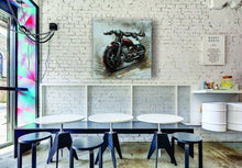 "OLIVIA'S LOFT | Art-under-$100 | Bikes-Painting | Gifts-for-bikers | ""Moto Primo"" Bike-oil-painting $90 