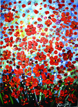 "OLIVIA'S LOFT | Art-under-$100 | ""Red Bloom"" Floral Oil Painting 