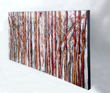 """Red Wood"" Trees in the Forest Painted in Acrylic on Canvas"
