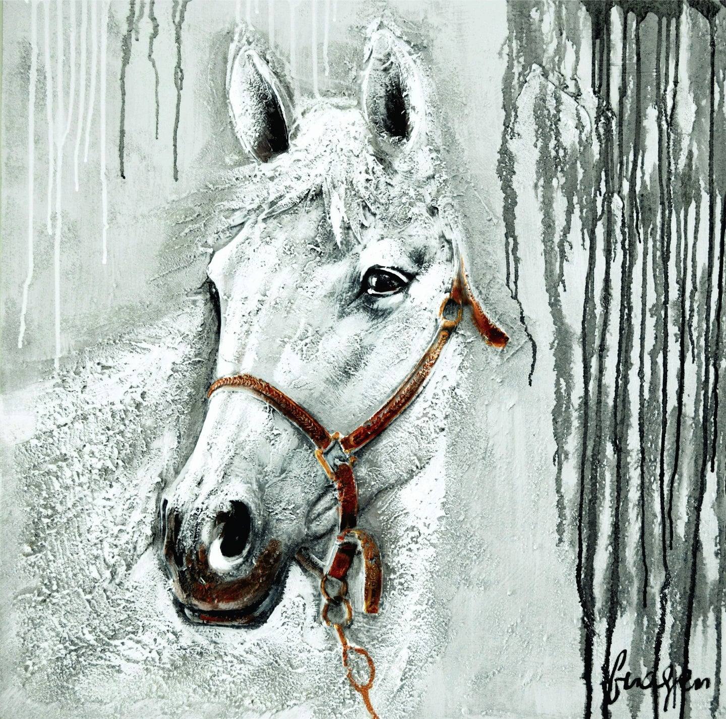 OLIVIA'S LOFT | olivias_loft | Affordable_Art | animal _art | horse_painting | grey_colour_painting | safe-passage | home_design