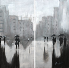 """Then it Rained"" 2-Panel Acrylic on Canvas"