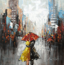"""Under the Umbrella"" Painted in Acrylic on Canvas"