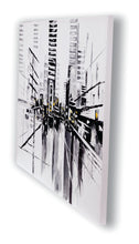 """West Georgia"" Abstract Cityscape Painted in Acrylic on Canvas"