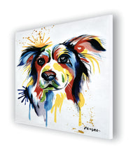 OLIVIA'S LOFT | Art-under-$100 | Floral-oil-painting-on-canvas | affordable-art | Spring_time | hand_painted_ wall_ art | OLIVIA'S_LOFT | Dog_Painting