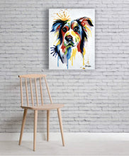 """Woof"" Loving Dog Hand Painted on Canvas"