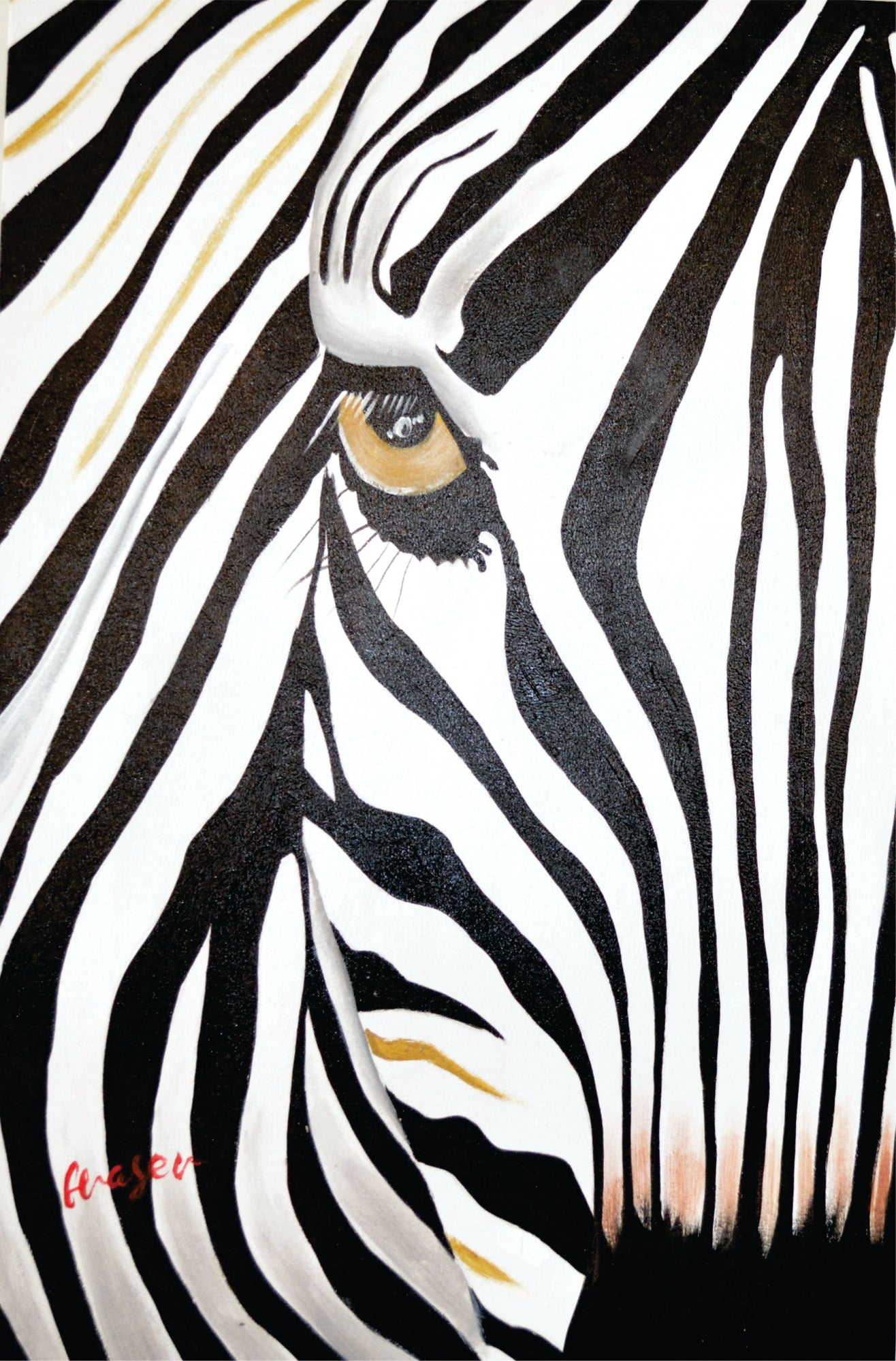 OLIVIA'S_LOFT | whiterock_artist | vancouver_artist | Affordable_Art | Animal_art | hand_painted_ wall_ art | Zebra_Painting | Black _and_white_painting | interior_design_art