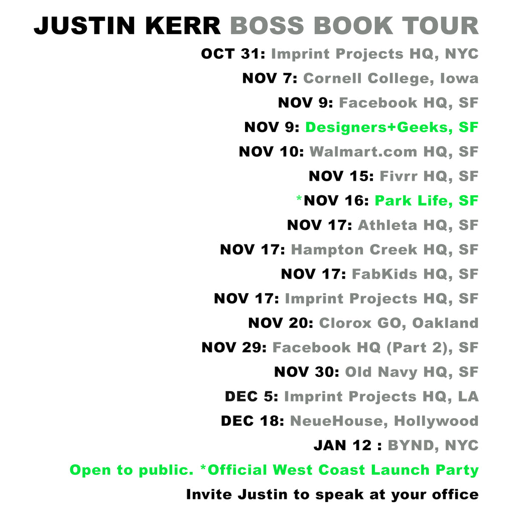 New Companies. New Cities. BOSS BOOK TOUR