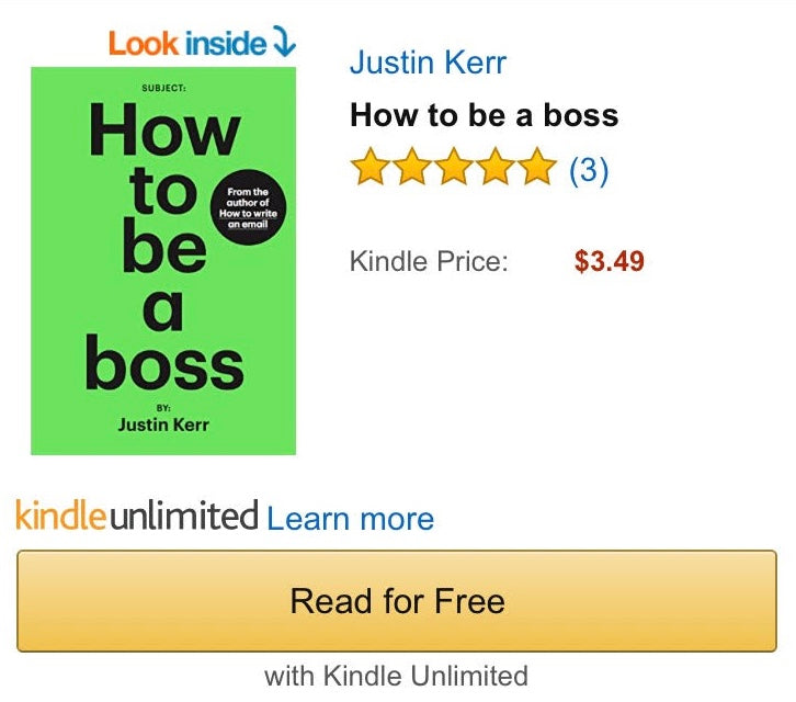 BOSS BOOK FREE ON KINDLE !?!