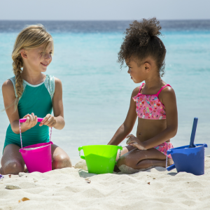 Scrunch Buckets are the best sand toys this season!