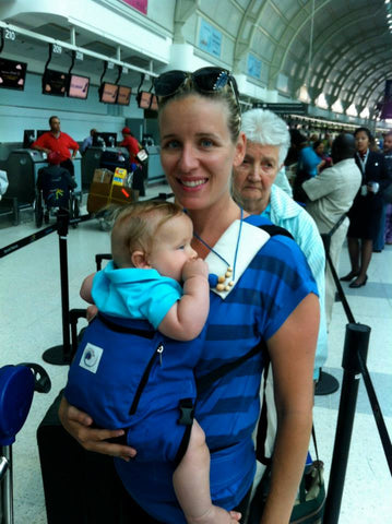 Flying with infant in baby carrier