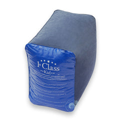 The Ultimate Kids Travel Pillow - The 1st Class Kid Travel Pillow is an inflatable pillow that is designed to fill the legroom area of seats on various modes of transportation. It's lightweight and flexible, and can be easily folded or rolled into many different sizes to fit into a carry-on.