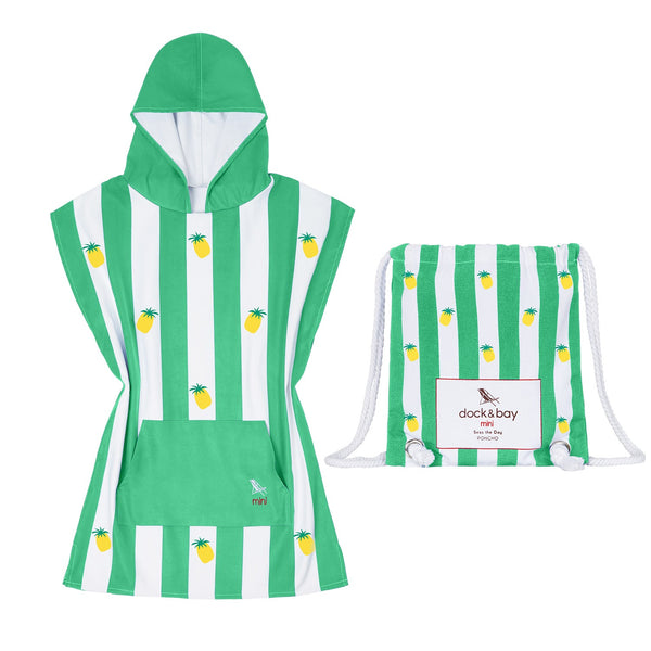 Dock & Bay Quick Dry Kids Towel Poncho - Juicy Green