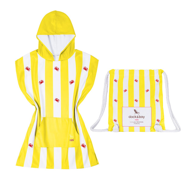 Dock & Bay Quick Dry Kids Towel Poncho - Snappy Yellow