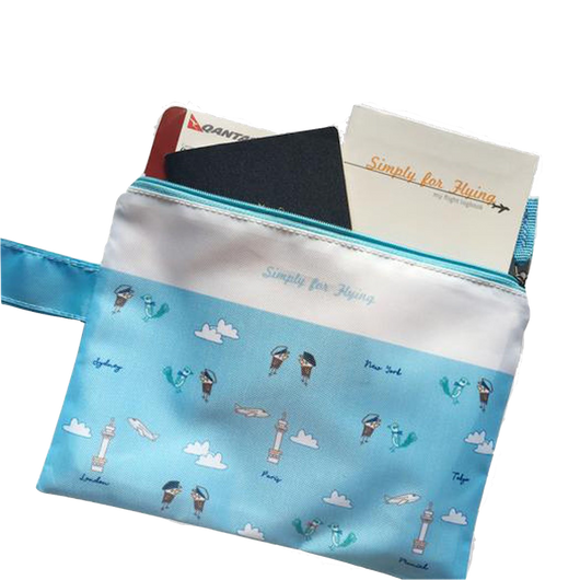 Simply for Flying Travel Pouch-Blue