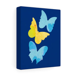 Butterfly Trio Canvas - Down Syndrome Awareness - 8x10
