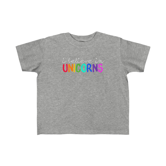 I Believe in Unicorns - Soft Jersey Tee - Toddler