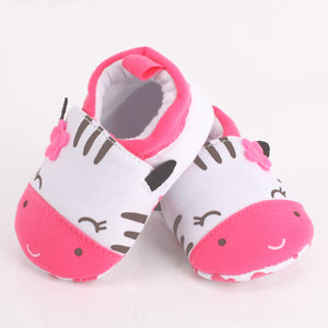 Happy Zebra Baby Shoes - 0-18mo - Pink
