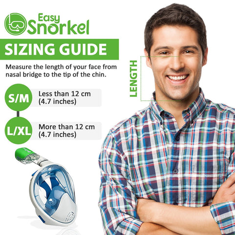 Easy Snorkel Full Face Snorkel Mask - Sizing