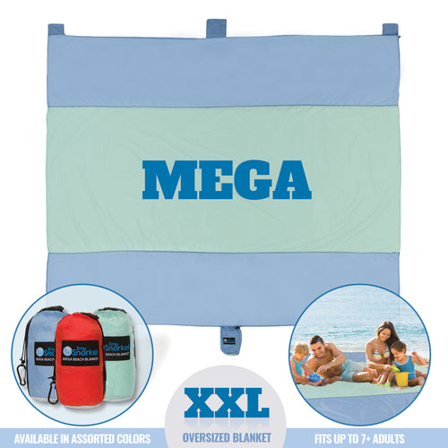 Mega Beach Blanket - Sea Blue