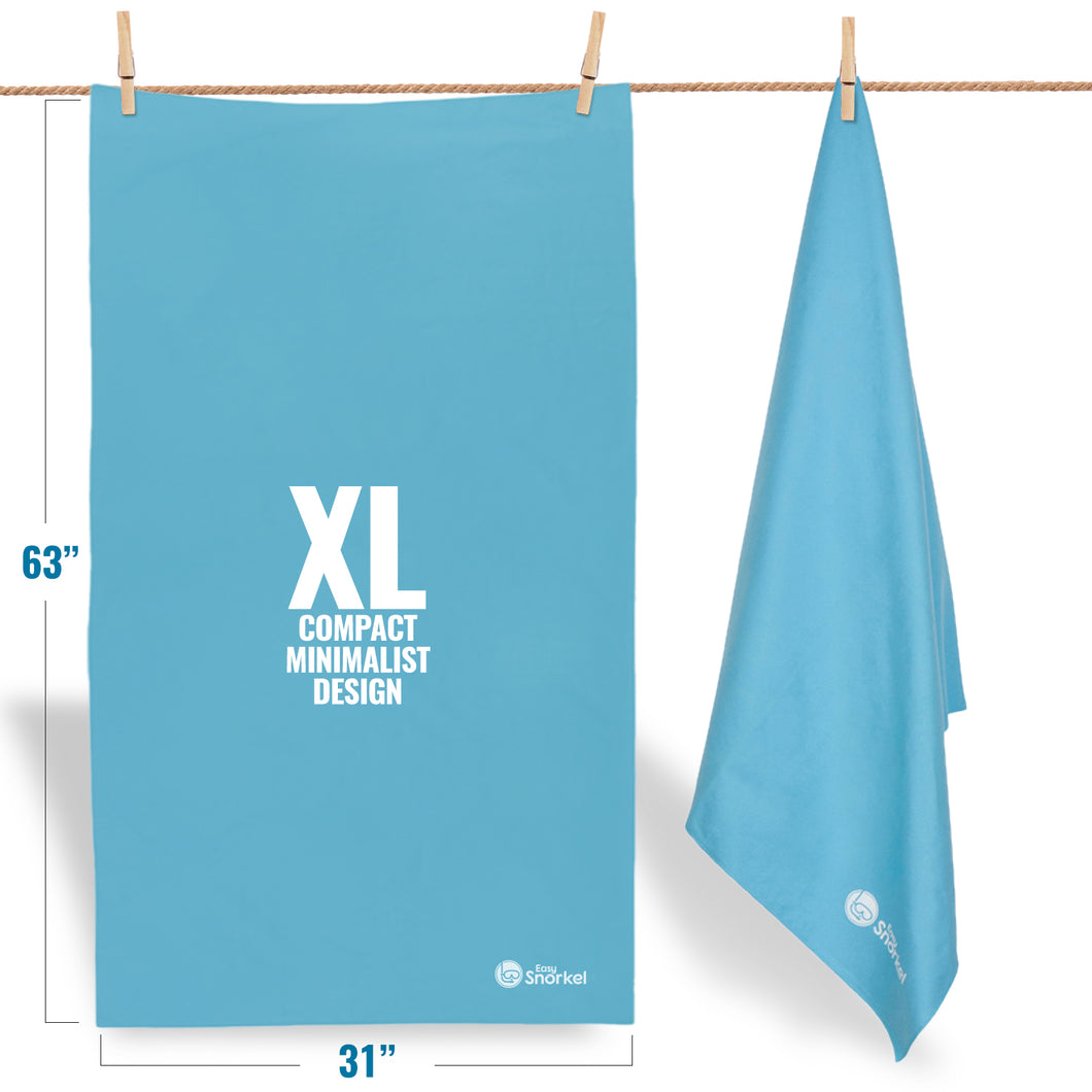 Microfiber Beach Towel - XL - Sky blue