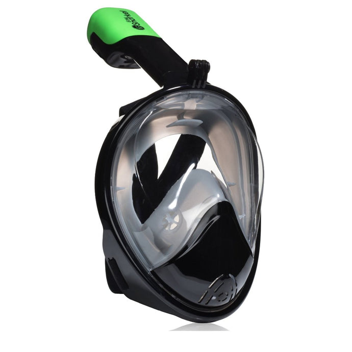 Go-Pro Full Face Snorkel Mask Black