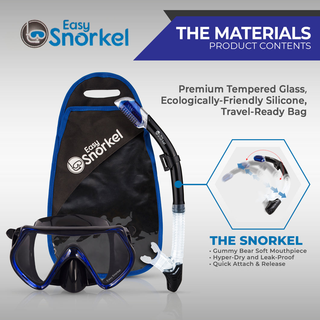 Snorkel DIVE-TECH Prodigy 3.0 Mask Set - Premium Travel Set