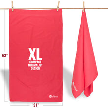 Microfiber Beach Towel - XL - Coral