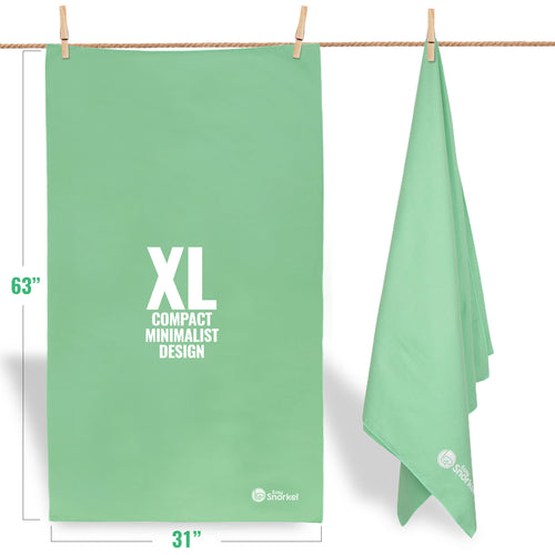 Microfiber Beach Towel - XL Mint