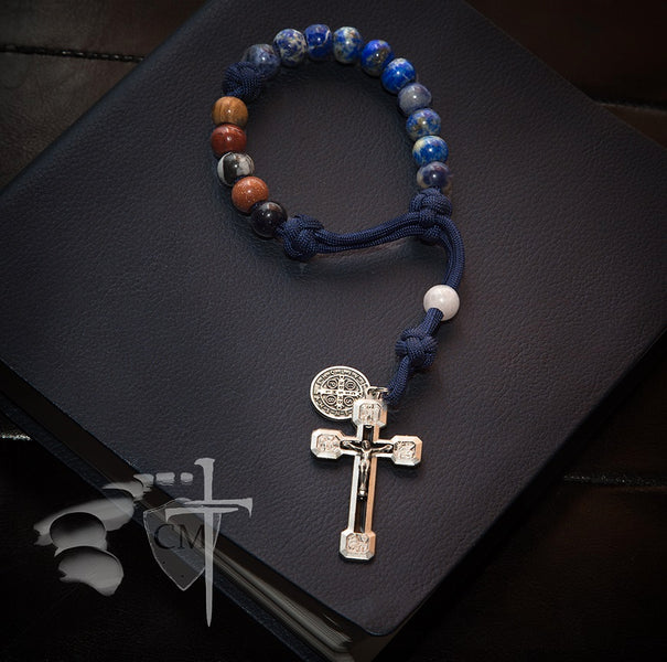 Inspiration behind the creation of the St. Benedict rosary bracelet by Frederic Purtell