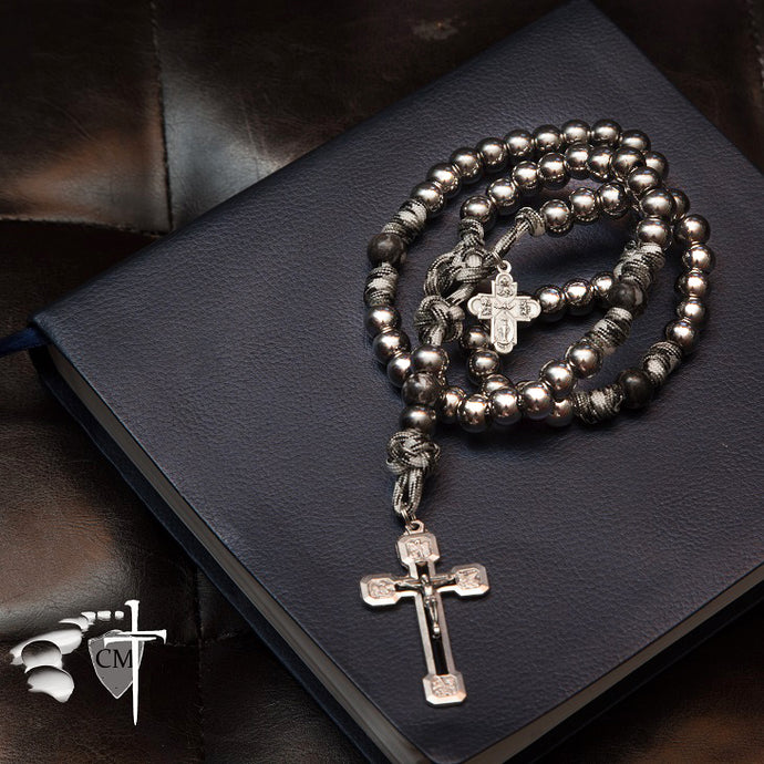 stone rosary paracord rosary, He descended into sheol on the third day he rose again