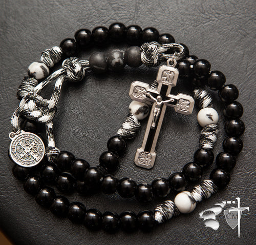 Paracord Rosary, strong, Blessed is the fruit of thy womb, Jesus ; Hail Mary full of grace the Lord is with thee.  Blessed art though among women.