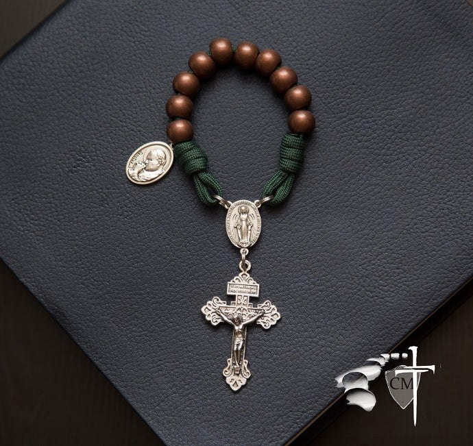 paracord rosary, paracord rosaries, pocket rosary, cord rosary, cord rosaries, copper pardon pocket rosary, Catholic Milestones, Ottawa, online store, religious articles, catholic housewarming gifts, men's rosary, rosary, made in Italy
