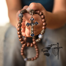 Paracord Rosaries March for Life Paracord Rosary sodalite stone beads enamel crucifix I believe in God