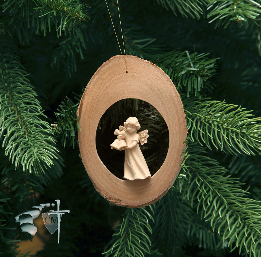 Wood Carved Angel Ornament